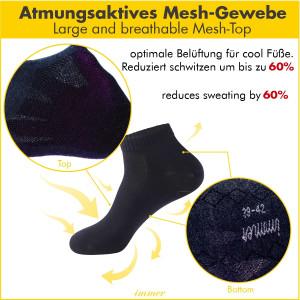 Calcetines deportivos para mujeres y hombres, paquete de...