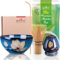 "Set Matcha ""Magnolia"" 80 con 30g di matcha biologico premium"