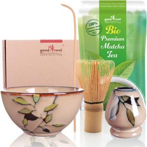 """Matcha-Set """"Bamboo"""" 80 mit 30g Premium Bio-Matcha"""