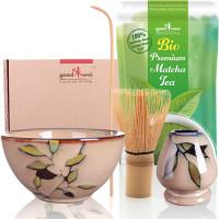 "Matcha set ""Bamboo"" 80 met 30g premium biologische matcha"