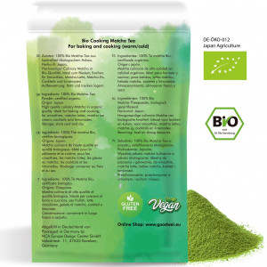 Organic Matcha for Cooking, 100g