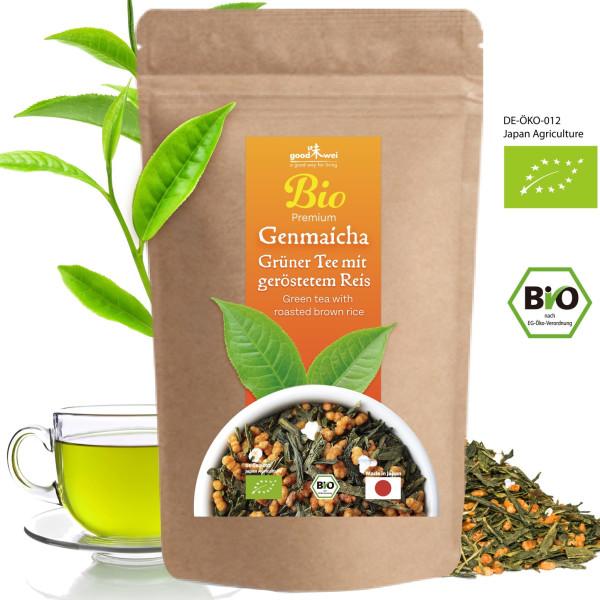 Japanischer Bio Genmaicha Premium, 250g