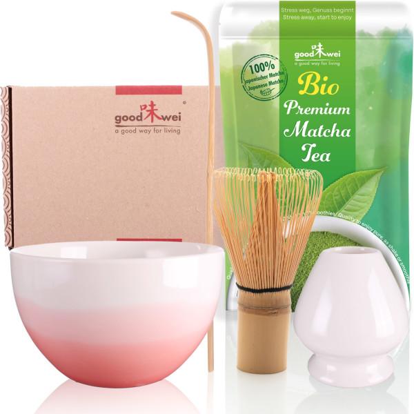 "Set Matcha ""Pink Wave"" con 30 g di matcha biologico premium"
