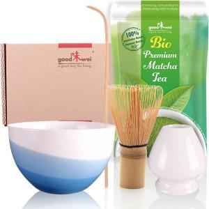 "Matcha Tea Set ""Blue Wave"", incl. 30g Organic..."