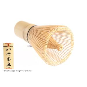 "Matcha Whisk "" Chasen"", 80 Bristles, White Bamboo"