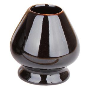 Chasentate - Ceramic Holder for Bamboo Whisk (Black)