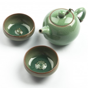 "Exclusive Chinese Gong Fu Cha Tea Set ""Charms"",..."