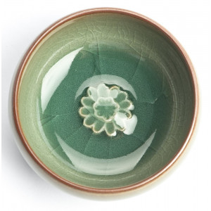 "Chinese Gong Fu Cha Tea Cup ""Sunflower"",..."