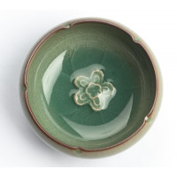 classic asian celadon teacup with crackle-style glazing, 55 ml