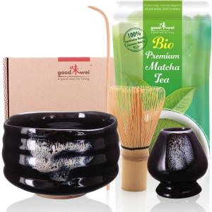 "Matcha-Set ""Burashi"" mit 30g Premium Bio-Matcha"