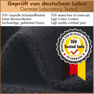 Chaussettes business unisex 96% coton, pack de 10 noir 43-46