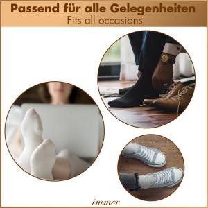 Socken Business Unisex 96% Baumwolle, 10er Pack Schwarz 43-46
